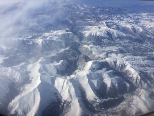 Alpes visto da janela do avião.