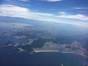 Vista aérea da costa do Estado do Rio de Janeiro.